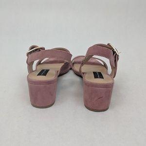 2ac87788794 Steven By Steve Madden Shoes - Steve Madden Fond Rose Suede High Heel  Sandals